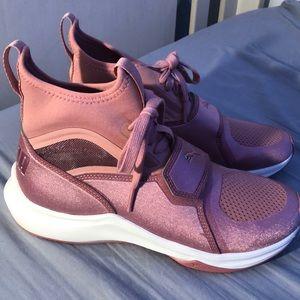 Blush Pink Puma Sneakers.